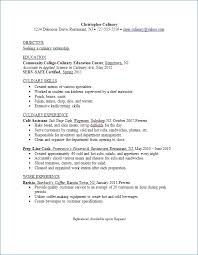 Culinary Resume Template Amazing Culinary Resume Template Culinary Resume Template Resume Example