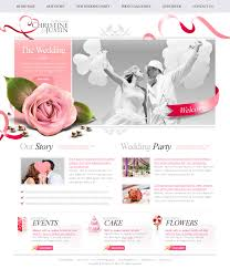 The Wedding Psd Website Free Template Download Download Psd