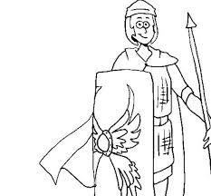Cartoon Drawing Of Ancient Rome Soldier Coloring Page Netart