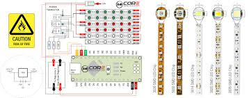 wiring 3014 3020 2835 5050 analog led strip mcu 14core com arduino led strip wiring diagram 5050 rgb analog