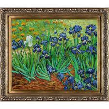 irises by vincent van gogh framed painting