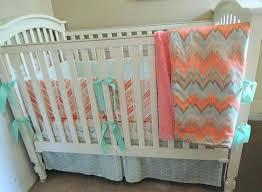 c crib bedding c crib bedding set c mint chevron baby bedding set c and mint