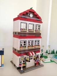 custom lego house made with pick a brick similar to lego friends high