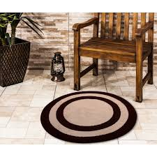 saffron fabs bath rug 100 soft cotton 36 inch round reversible diffe pattern on both side chocolate ivory color hand tufted heavy 200 gsf weight