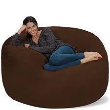 Comfy lounge furniture Interesting Chill Sack Bean Bag Chair Giant 5 Memory Foam Furniture Bean Bag Big Amazoncom Comfy Lounge Chairs Amazoncom