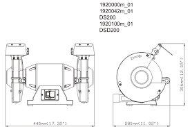 ds 200 619200000 bench grinder metabo power tools manual spare parts list ds 200 619200000 bench grinder