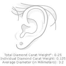 Diamond Total Weight Chart Carat Size Chart On Ear Bedowntowndaytona Com