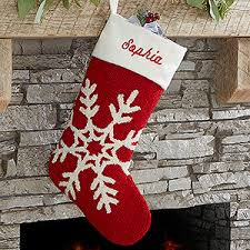 snowflake christmas stockings. Modren Snowflake Buy Personalized Hooked Crochet Christmas Stockings With Custom Embroidered  Name  Free Personalization See More At  Intended Snowflake Personalization Mall
