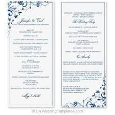 Microsoft Wedding Program Templates Free Wedding Program Template Download Rome Fontanacountryinn Com