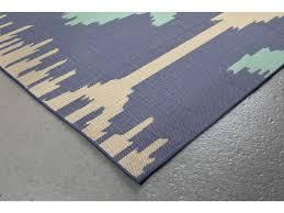 trans ocean rugs playa ikat 7 10 square blue area rug