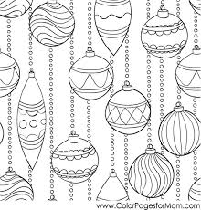 Small Picture Christmas Coloring Page for Adults Christmas Ornaments in Adult