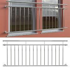 2er Set V2a Edelstahl Balkongeländer Fenstergitter Französischer