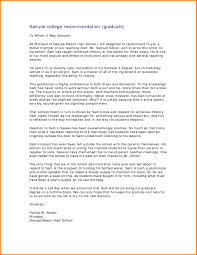 Sample College Reference Letters Sample College Recommendation Letters Graduate School Sample
