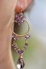 the full moon earrings pink amethyst chandelier earrings in gold filled