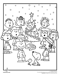 A Charlie Brown Christmas Coloring Pages Woo Jr Kids Activities