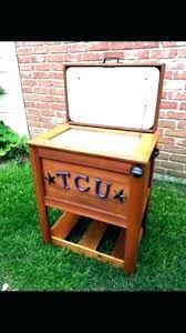 decorative outdoor ice chest standing wooden cooler pallet patio beer ideas food use bee diy