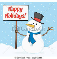 holiday snowman clip art. Beautiful Holiday Holiday Greetings With Snowman  Csp5133055 Intended Clip Art T