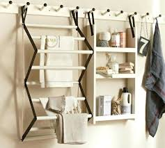 wall mount accordion drying rack charming and traditional style of racks clothes