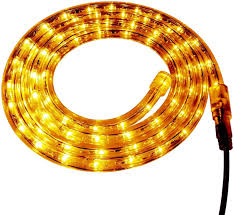 Custom Rope Lights Amazon Com Yellow Led Rope Light 120 Volt Custom Cut