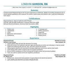 Example Of Rn Resume Classy Nursing Student R Free Nursing Resume Templates With Free Online