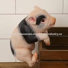 pig pot huggers polyresin pig pot