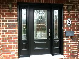 wood front entry doors with sidelights doors astounding black front door with sidelights front black entry