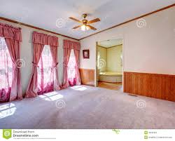 Master Bedroom Window Treatment Master Bedroom Open To Bathroom Royalty Free Stock Photography