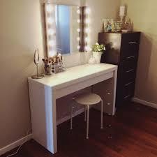 Big Vanity Mirror With Lights Amazing Diy Ikea Hack Put Shelves On