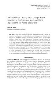 constructivist theory and concept based learning in professional document is being loaded