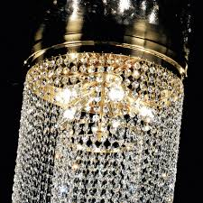 long crystal chain chandelier style ceiling light