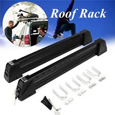 <b>1 Pair Aluminum Alloy</b> Car Auto Roof Rack Ski Snow Board Carrier ...