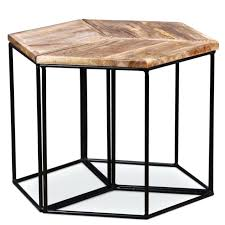 hexagon side table industrial coffee table vintage hexagon side tables bedside modular furniture hexagon side table
