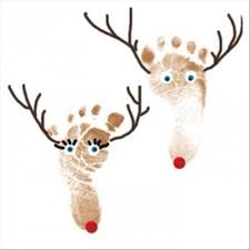 Kids Christmas Projects Foot Prints Hand Prints And Finger Infant Christmas Crafts