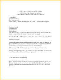 Collection Of Solutions Example Of Block Business Letter For