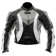 stylish motorcycle black grey biker jacket