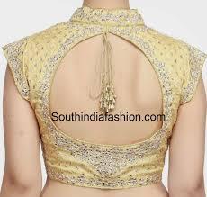 Collar Back Neck Design Collar Neck Kundan Work Blouse Fancy Blouse Designs