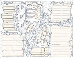hero forge character sheet numenera