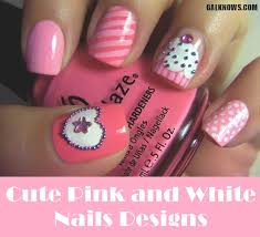 Pink Nail Art Design 101 Cute Pink And White Nails Designs Worth Stealing