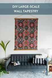 diy large scale tapestry wall art you won t believe how simple and affordable this project