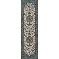 kensington center glow cream 3 ft x 11 ft runner rug