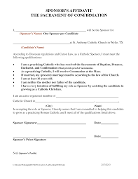 Catholic Confirmation Sponsor Letter Candidate Agcrewall
