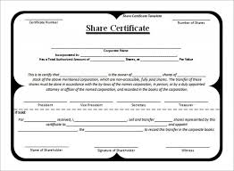 Template Share Certificate Free Share Certificate Template Create Perfect Share Shareholders