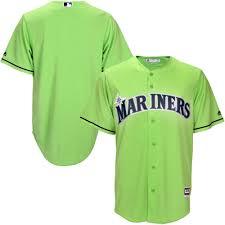 Men's Seattle Mariners Majestic Neon Green Fashion Team Jersey