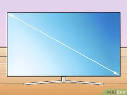 Led Tv Distance Chart How To Measure A Tv 9 Steps With Pictures Wikihow