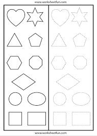 Kindergarten Shapes Tracing Worksheet | Printable Worksheets ...