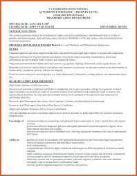 Mechanic Resume Template Auto Mechanic Resume Template 37