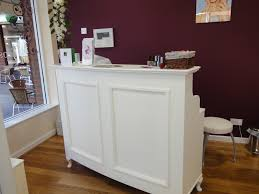 small reception desk beauty salon