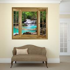 picture of through the window wall mural waterfall