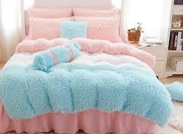 74 princess style chunky color block 4 piece velvet bedding set duvet cover
