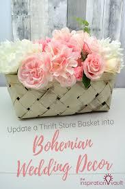 update a thrift basket into bohemian wedding decor diy upcycle craft tutorial repurposeit